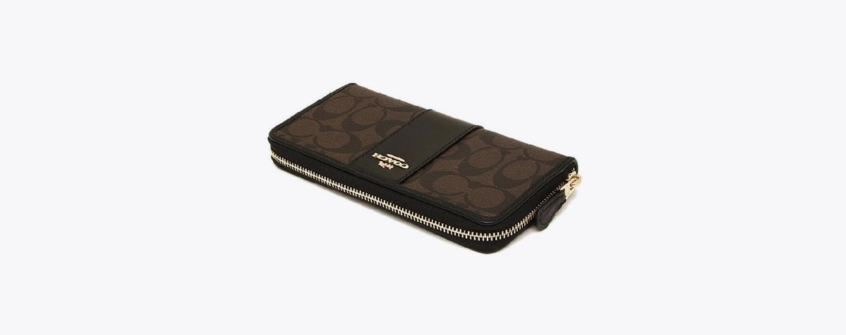 Accordion Zip Wallet in Signature
