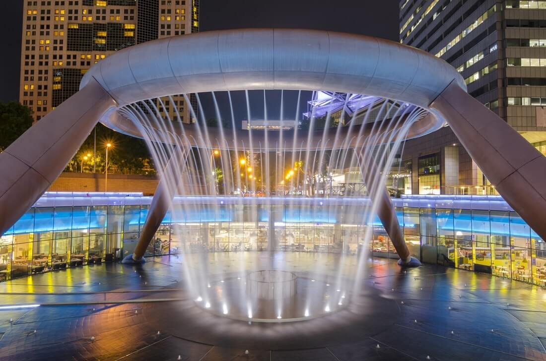 น้ำพุแห่งความมั่งคั่ง ที่เที่ยวสิงคโปร์