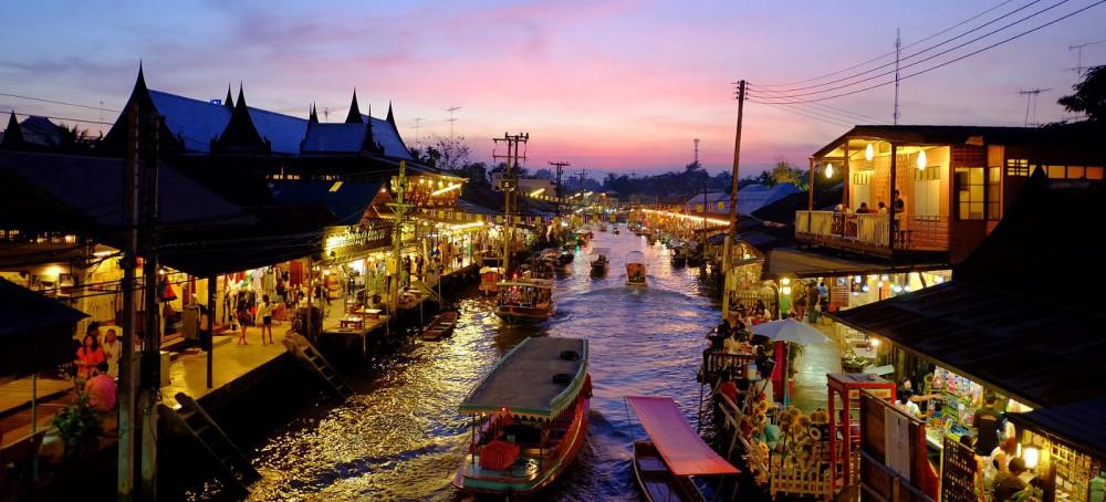 ตลาดน้ำอัมพวา สมุทรสงคราม ที่เที่ยวใกล้กรุงเทพ ไปเช้าเย็นกลับ 1 วัน ได้ ไม่มีรถ ก็ไปได้