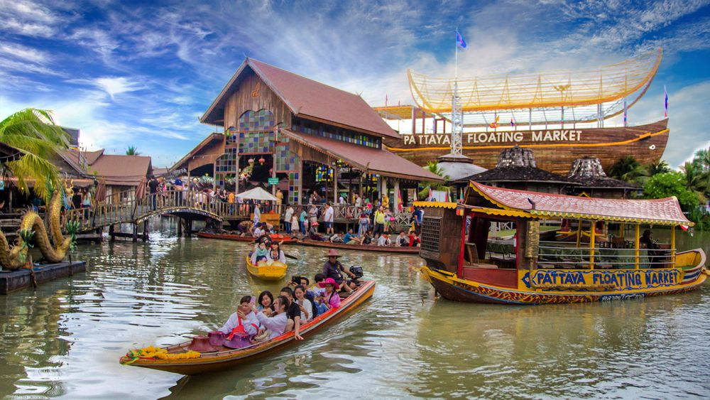 ตลาดน้ำ 4 ภาค พัทยา ชลบุรี ที่เที่ยวใกล้กรุงเทพ ไปเช้าเย็นกลับ 1 วัน ไม่มีรถ Pantip
