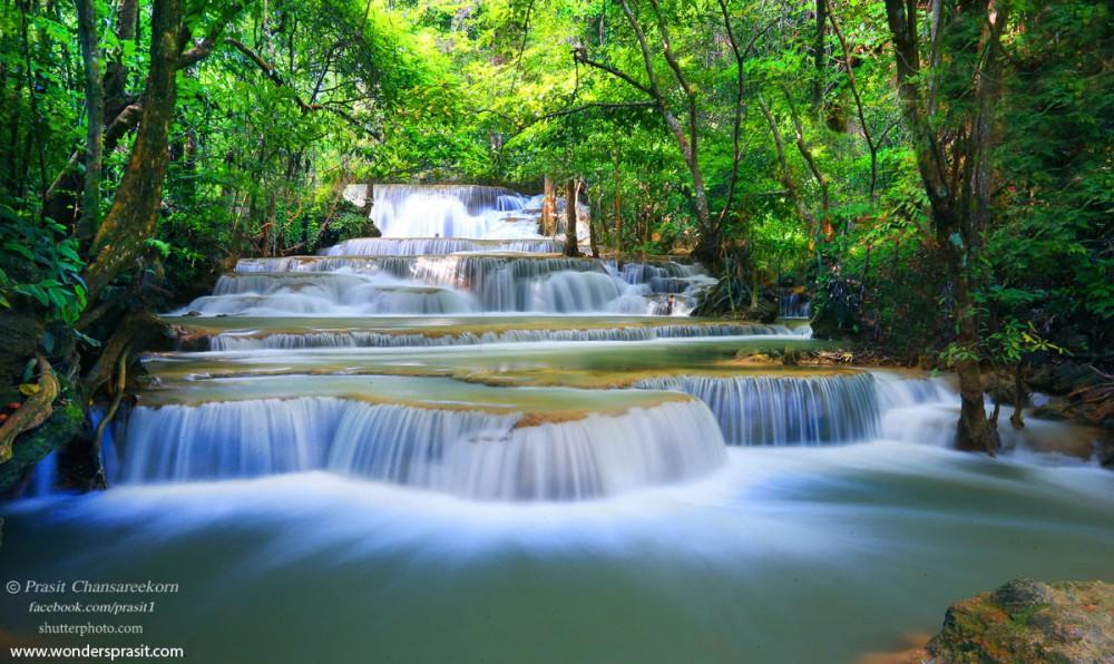 ที่เที่ยวใกล้กรุงเทพ ไปเช้าเย็นกลับ น้ำตกเอราวัณ กาญจนบุรี 1 วัน Pantip