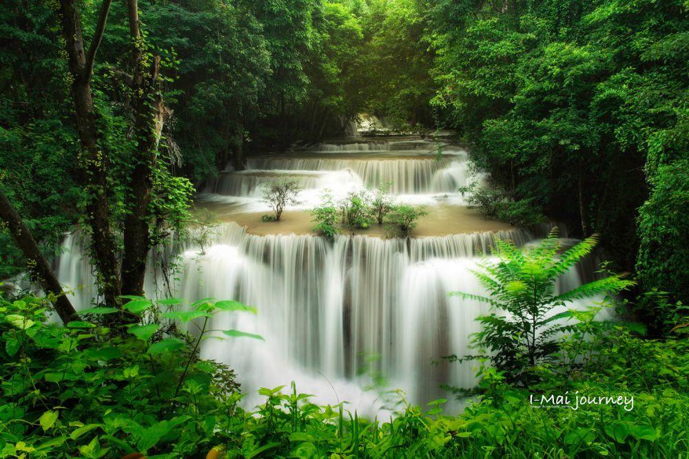 น้ำตกห้วยขมิ้น กาญจนบุรี ที่เที่ยวใกล้กรุงเทพ ไปเช้าเย็นกลับ 1 วัน ไม่มีรถ Pantip