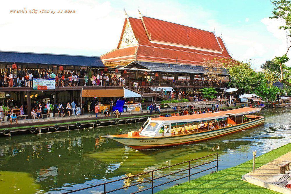 ตลาดน้ำขวัญเรียม รามคำแหง กรุงเทพ ที่เที่ยวใกล้กรุงเทพ ไปเช้าเย็นกลับ ที่เที่ยวในกรุงเทพ ตลาดน้ำในกรุงเทพ